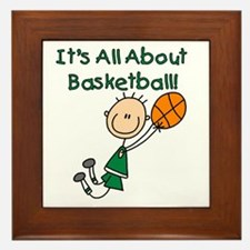 All About Basketball Framed Tile