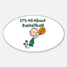All About Basketball Oval Decal