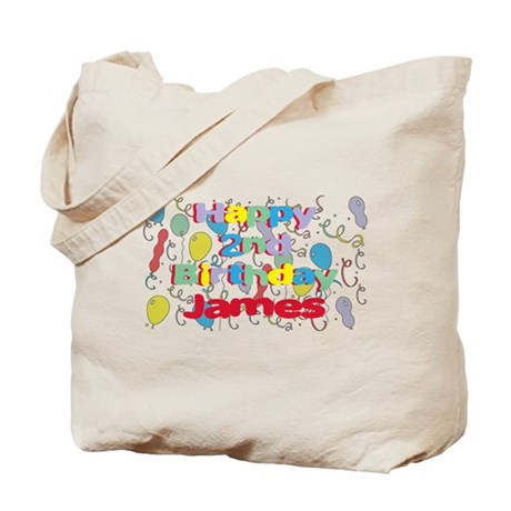 James's 2nd Birthday Tote Bag