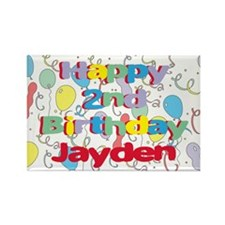 Jayden's 2nd Birthday Rectangle Magnet