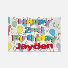 Jayden's 2nd Birthday Rectangle Magnet