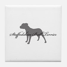 Staffordshire Bull Terrier Tile Coaster