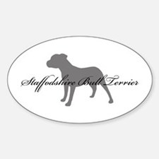 Staffordshire Bull Terrier Oval Decal