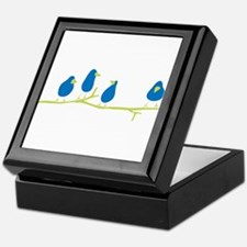 BLUEBIRDS ON A TWIG Keepsake Box