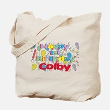 Colby's 1st Birthday Tote Bag