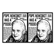 The Pope Has A Posse Rectangle Decal