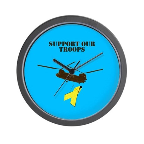 Wall Clock Support our Troops theme