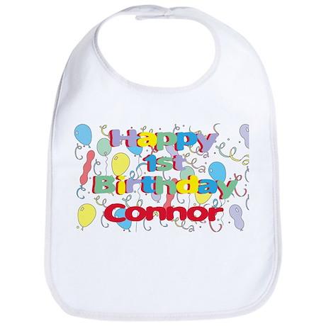 Connor's 1st Birthday Bib
