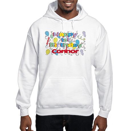 Connor's 1st Birthday Hooded Sweatshirt