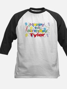 Tyler's 1st Birthday Kids Baseball Jersey