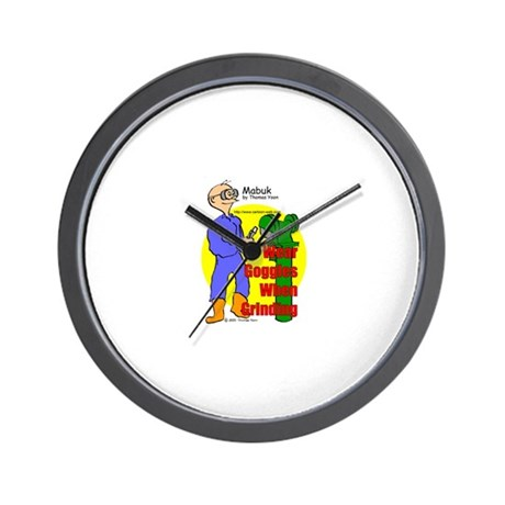 Construction Safety Wall Clock