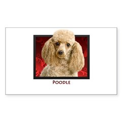 Poodle Rectangle Decal