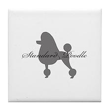 Standard Poodle Tile Coaster
