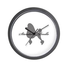 Standard Poodle Wall Clock