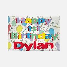 Dylan's 1st Birthday Rectangle Magnet