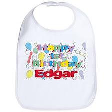 Edgar's 1st Birthday Bib