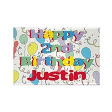 Justin's 2nd Birthday Rectangle Magnet