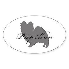 Papillon Oval Sticker (10 pk)