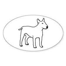 Bull Terrier Oval Decal