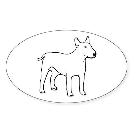 Bull Terrier Oval Sticker