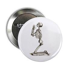 """Praying Skeleton 2.25"""" Button"""
