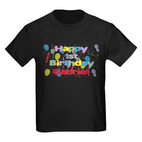 Gabriel's 1st Birthday Kids Dark T-Shirt