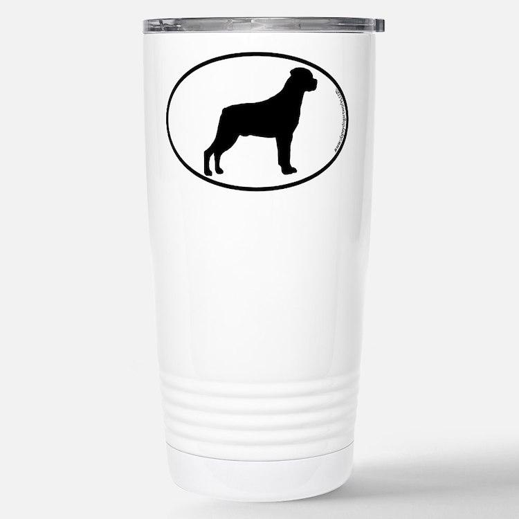 Rottweiler SILHOUETTE Stainless Steel Travel Mug