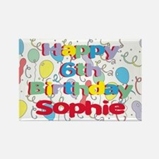 Sophie's 6th Birthday Rectangle Magnet
