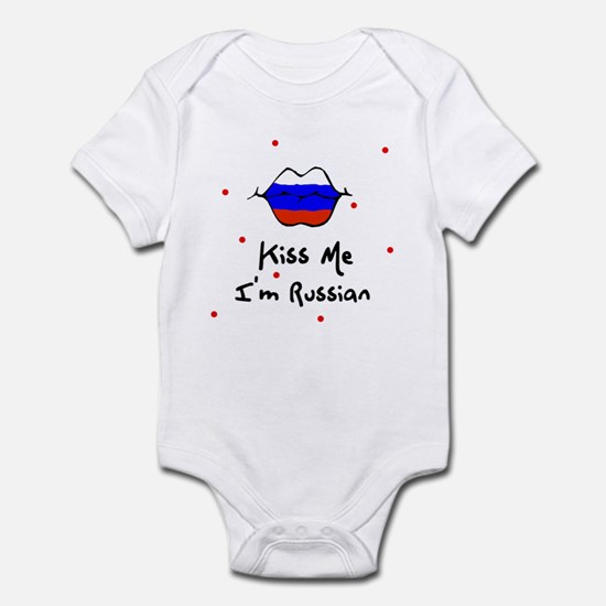 Kiss Me I'm Russian Baby Toddler Infant Bodysuit