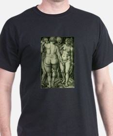 Death and Three Nude Women T-Shirt