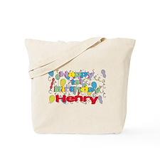 Henry's 1st Birthday Tote Bag