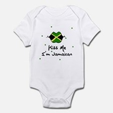 Kiss Me I'm Jamaican Baby Toddler Infant Bodysuit