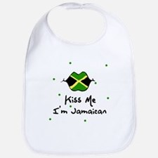 Kiss Me I'm Jamaican Baby Infant Toddler Bib