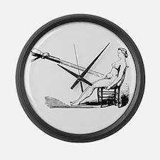 1860 Pelvic Douche Illustration Large Wall Clock