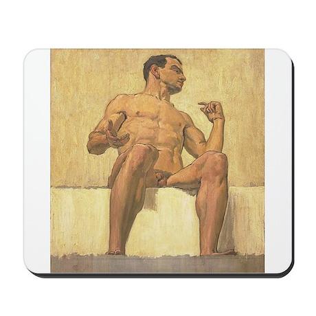 Albert Maennchen's Sitzender Männerakt Mousepad