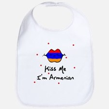 Kiss Me I'm Armenian Baby infant Toddler Bib