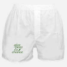 Give Peas a Chance (new) Boxer Shorts