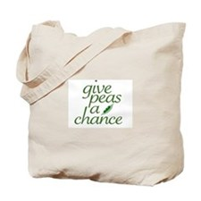 Give Peas a Chance (new) Tote Bag