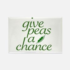 Give Peas a Chance (new) Rectangle Magnet