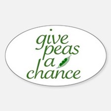 Give Peas a Chance (new) Oval Decal