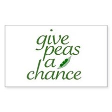 Give Peas a Chance (new) Rectangle Decal