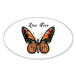 Butterfly Sticker (Oval 10 pk)