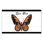 Butterfly Sticker (Rectangle 10 pk)