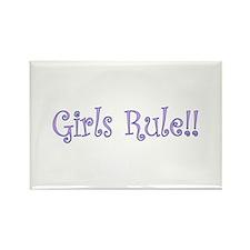 Girls Rule! Rectangle Magnet