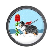 TriColor Sheltie Mail Wall Clock