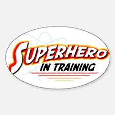 SUPERHERO IN TRAINING Oval Decal