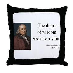 Benjamin Franklin 20 Throw Pillow
