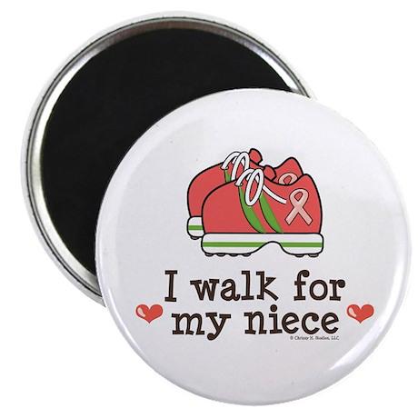 "Breast Cancer Walk Niece 2.25"" Magnet (10 pack)"