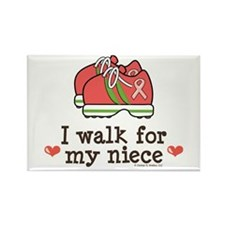 Breast Cancer Walk Niece Rectangle Magnet
