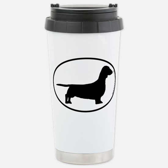 Smooth Dachshund SILHOUETTE Stainless Steel Travel